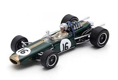 Spark Model S7114 Brabham BT19 #16 'Jack Brabham Winner Dutch GP & F1 World Champion 1966