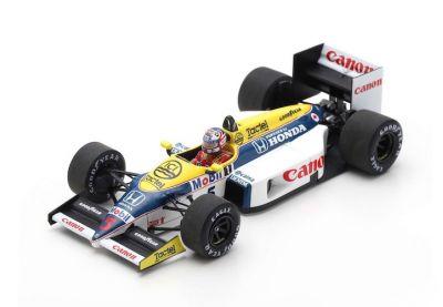Spark Model S7481 Williams FW11 #5 'Nigel Mansell' Winner Belgian Grand Prix 198