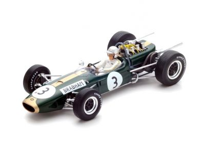 Spark Model 18S223 Brabham BT19 #3 'Jack Brabham' F1 World Champion 1966