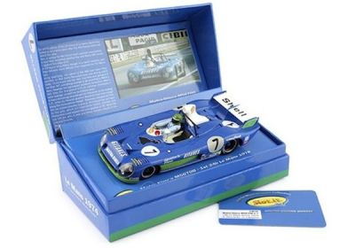 Slot.It SICW18 Matra 670B #7 'Henri Pescarolo - Gérard Larrousse' 1st pl Le Mans 1974