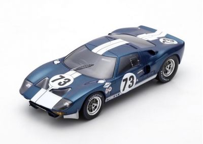 Spark Model 18DA65 Ford GT40 #73 'Ken Miles - Lloyd Ruby' winner Daytona Continental 2000 Km 1965